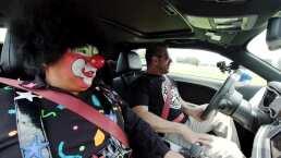 Franky Mostro maneja a exceso de velocidad y Chuponcito termina temblando