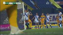 Por poco hace gol olímpico Liliana Mercado para Tigres