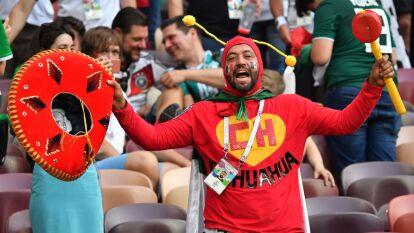 Los mexicanos se divirtieron mucho en Moscú alentando a México en su debut triunfal, y sorpresivo frente a Alemania.