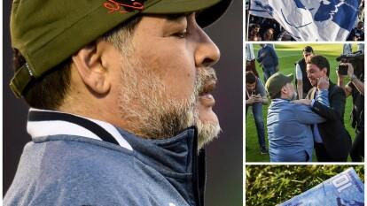 Diego Armando Maradona ligó su tercera derrota consecutiva con Gimnasia La Plata.