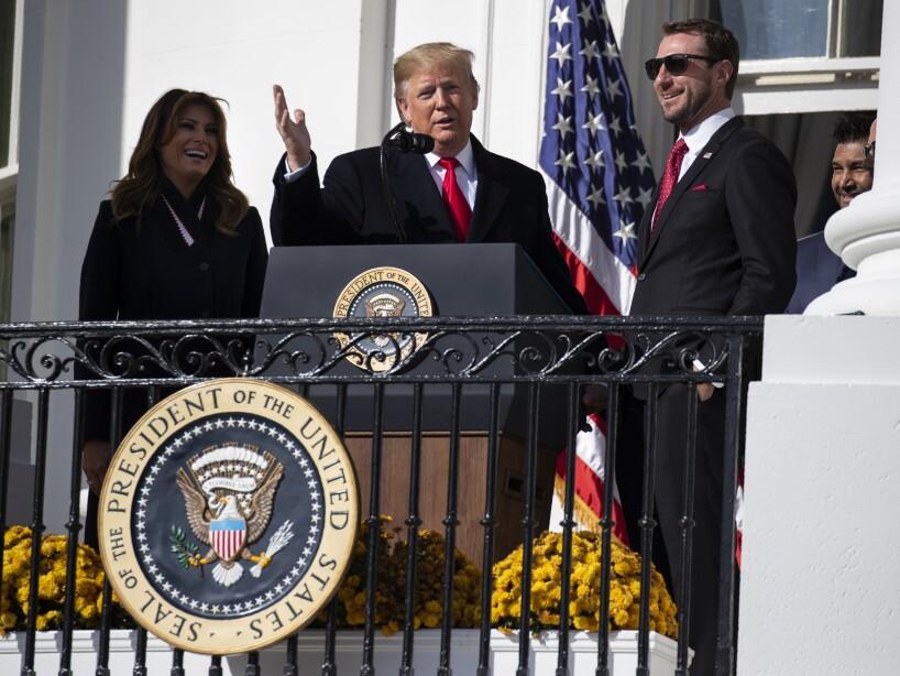 Donald Trump, Melania Trump, Max Scherzer