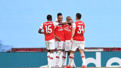 Arsenal jugará la final de la FA Cup | Con doblete de Aubameyang despacharon al Manchester City; los Gunners podrían jugar competiciones europeas.