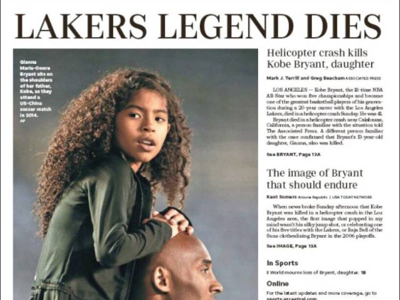 Kobe Bryant, periódico, ARIZONA REPUBLIC.jpg