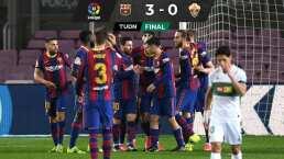Así fue el imponente doblete de Leo Messi en triunfo de Barcelona