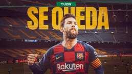 Messi confirma que se queda en el Barcelona
