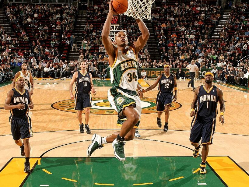 Indiana Pacers v Seattle SuperSonics