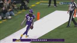 Touchdown de los Vikings para dar la vuelta al marcador 10-13