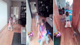 'Carreras de unicornios': Así se divierten las hijas de Jacky Bracamontes mientras ella no está