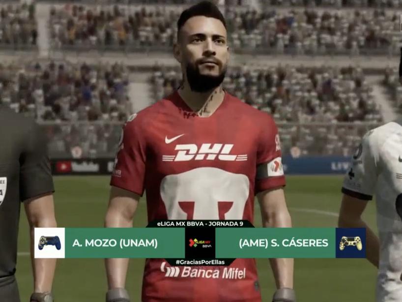 Pumas vs América, eLiga MX, 3.png