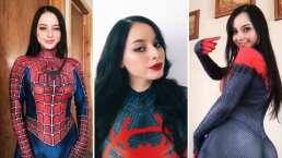 Influencer mexicana cautiva al bailar perreo intenso luciendo un entallado traje de Spider-Man