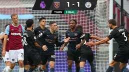 A pesar de golazo, City rescata empate ante el West Ham