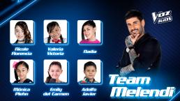El Team Melendi suma dos talentosas voces que irán a la semifinal de La Voz Kids