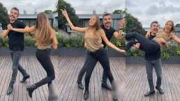 Adrián Uribe baila música disco con su esposa y conquista a sus fans