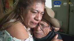 Padre e hija se volvieron a abrazar en El Balón del Reencuentro