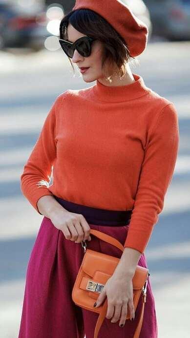 Ideas de para agregar el color naranja a tu look