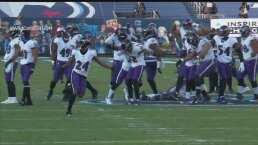 ¡La jugada clave! Peters logra la intercepción y Ravens gana el partido