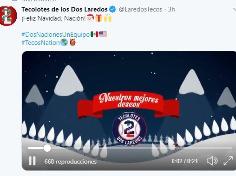 Futbolistas, boxeadores y equipos completos aprovechan las fiestas decembrinas para enviar sus mejores deseos a los aficionados.