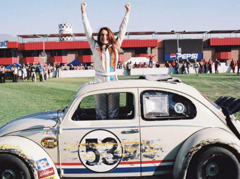 9. Herbie de El Cupido Motorizado: Lindsay Lohan manejó este simpático vochito en el cine, ¿habrá acabado en rehabilitación?