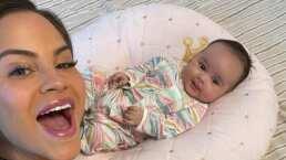 Prometido de Natti Natasha capta a la cantante y a su bebé en tierno momento frente al espejo