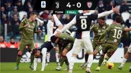 Con cátedra de Cristiano, la Juve vence al Cagliari y es líder