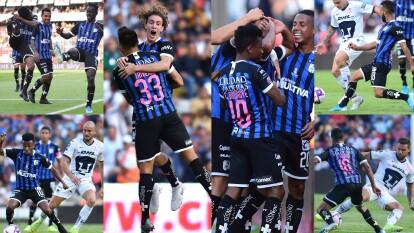 Con goles de Jordan Sierra (26), Aké Loba (29) y Enrique Triverio (82), Querétaro golea y se lleva los tres puntos en casa.
