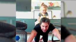 En su etapa de papá soltero, Mauricio Ochmann disfruta al máximo a Kailani y se ejercitan juntos