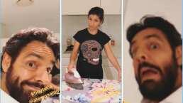 """""""¿Hoy toca?"""" Eugenio Derbez hace pícara insinuación a Alessandra Rosaldo y así reacciona ella"""