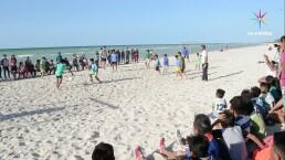 Detrás de cámaras: Futbol en la playa