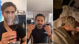 Así lucen Horacio Pancheri y Gonzalo Vega después de que la hija de Zuria Vega les pintara las uñas