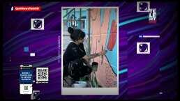 Mon Laferte realiza mural en pro de las mujeres en Chile; podría ser multada por no contar con permisos