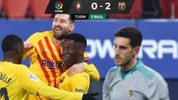 Imperdibles golazos de Barcelona y asistencia de Messi para vencer a Osasuna