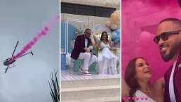 Natti Natasha y su prometido pintan el cielo de rosa y anuncian que serán padres de una niña