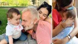 Sharon Fonseca y Gianluca Vacchi enternecen al compartir el primer viaje en tren de su bebita