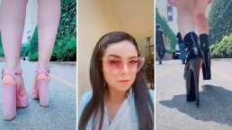 Violeta Isfel presume su talento para correr en tacones y asegura que es una fregona