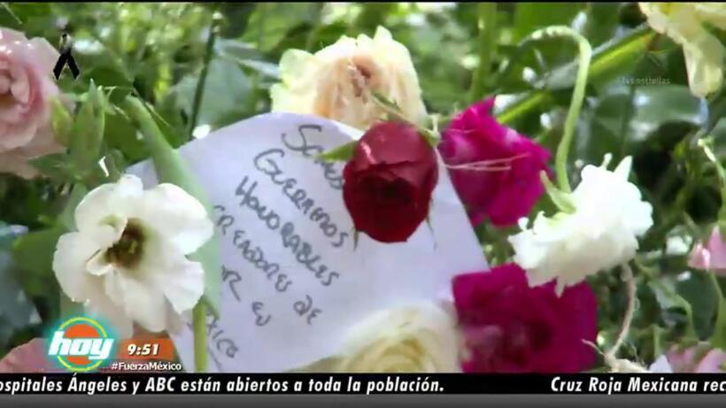 Homenaje a víctimas del sismo