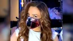 Thalía no pierde el glamour y presume sus cubrebocas con diamantes