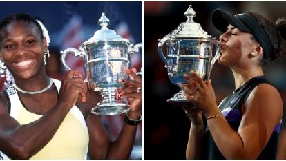 Williams nació en 1981 y con 18 años ya había conquistado varios títulos mundiales mientras Bianca Andreescu aún no nacía.