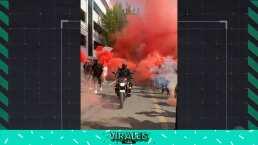 ¡La locura! Afición del Toluca tiñe de rojo el infierno para apoyar a los Diablos