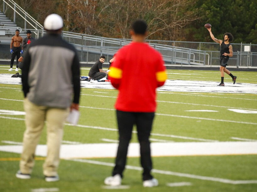 Kaepernick's Workout Football