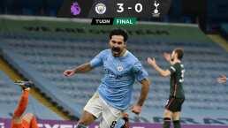 Pep Guardiola y City lideran la Premier tras golear al Tottenham