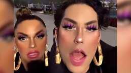 Con 'maquillaje exagerado' Christian Chávez muestra cómo se divierte al trabajar con Mariana Seoane