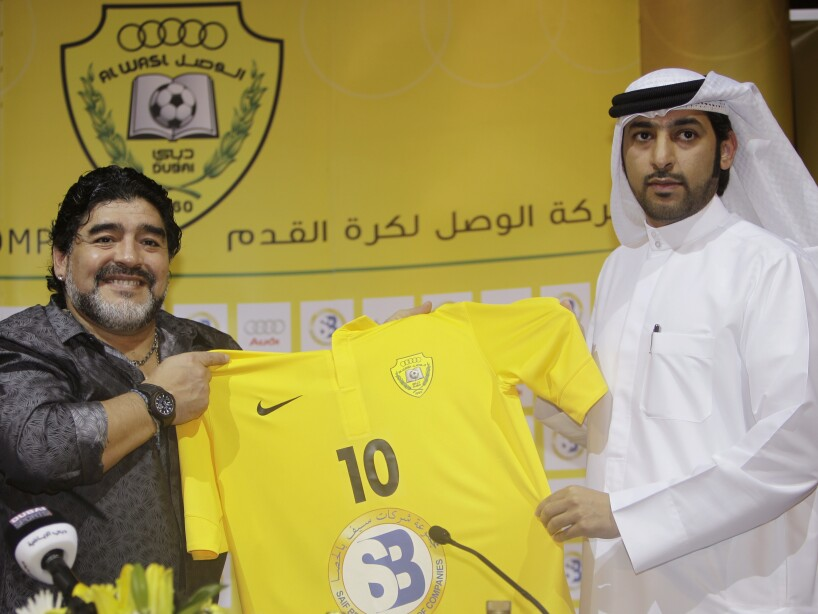 Mideast Emirates Maradona