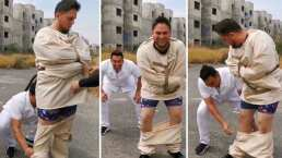 El momento en que Armando Ramos le baja los pantalones a Alejandro Gaxiola: 'Me las vas a pagar'