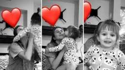 Kailani muestra su lado más tierno y llena de besos a una de sus tías