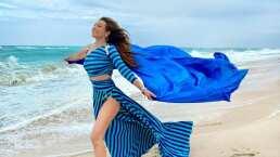Video: Thalía corre a la orilla del mar y grita: '¡Libre soy, libre soy!'