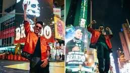 Mario Bautista llega a Times Square y cumple uno de sus grandes sueños