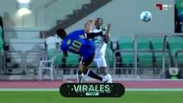 Una patada voladora para la historia en el futbol de Qatar
