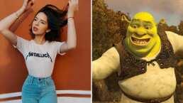 Con piel verde y orejas de ogro, Ángela Aguilar deja el glamour y se transforma en Shrek