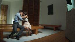 Mauricio besa a Julia | Detrás de cámaras