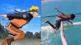 Ninjutsu nivel experto: Este par corre en el agua como Naruto